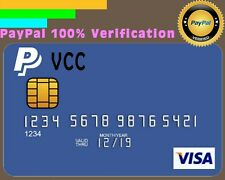 VCC VIRTUAL CREDIT CARD FOR PAYPAL VERIFICATION 2$ BALANCE AVAILABLE WORLDWIDE