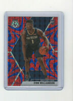 2019/20 Mosaic Reactive Blue Prizm Zion Williamson #209 Pelicans Star! RARE RC