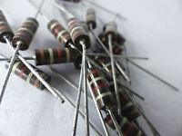 Carbon Comp Resistors vintage 10 x Kohlemasse Widerstand  120 KOhm 2W