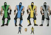 Jazwares Mortal Kombat 9 Klassic Ninja TRU 4 pack Scorpion Smoke Reptile SubZero