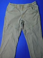 North Face Tan Hiking Pants Men's 36x31 Thick Cotton Canvas Work Camping