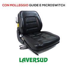Sedile con Molleggio Incorporato Trattore Cingolato Muletto e Carrello Elevatore