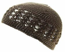 100% Cotton KUFI Crochet Beanie Skull Cap Knit Hat Brand New 19 Different Colors