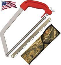 "Wyoming Saw Stainless Frame w/Die-Cast Aluminum Handle, 11"" Wood & Bone Blades"