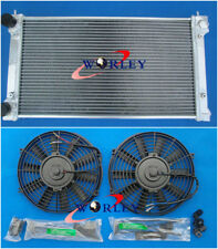 For VW GOLF MK1 MK2 GTI SCIROCCO 1.6 1.8 8V MT ALUMINIUM RADIATOR + 2* FANS