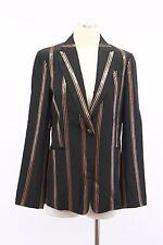 NWT$4295 Brunello Cucinelli 100% Silk Sparkly 2Tone Sequin Striped Blazer42 A176