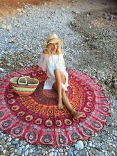 Indian Hippie Round Mandala Tapestry Wall Hanging Beach Throw Yoga Mat Cotton