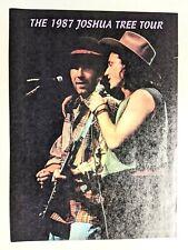 U2 / Bono & The Edge Live Joshua Tree Magazine Full Page Pinup Poster Clipping