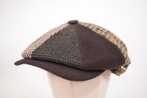 Wigens NWT Limited Edition Patchwork Newsboy Cap 165/200 Size 58, 7 & 1/4th