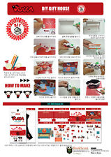 Pucca DIY Gift Pop up Card and Box for Cookie, Chocolate, Cake, Bread and so on