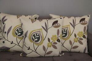 Cushion cover handmade 3 x 22''x22'' cotton floral modern pattern