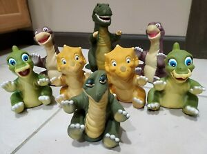 8 lot Vintage 1988 The Land Before Time Dinosaur Puppets Figures