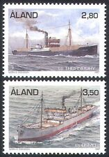 Aland 1997 Steam Freighters/Ships/Boats/Nautical/Trade/Transport 2v set (n41591)