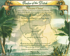 Order of the Ditch Panama Canal Certificate new US Naval Institute