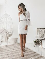 FORMAL WHITE ONE SLEEVE DRESS
