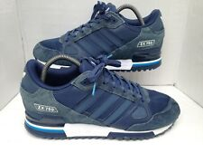 Adidas Originals ZX 750 Blue/White Suede Trainers Size UK 8