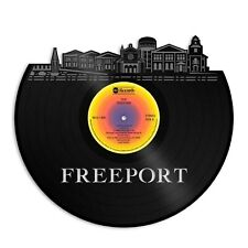 Freeport New York Vinyl Wall Art Skyline Best Gift for Birthday Home Decoration