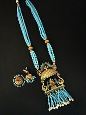 Bollywood Indian Ethnic Temple Matte Polish Traditional Necklace set For Women