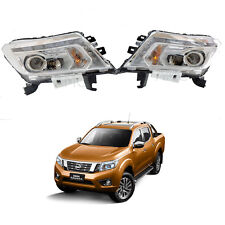 Fits 15 16 Nissan Navara Frontier Np300 D23 Pickup Head Lamp Light Led Pair Oem