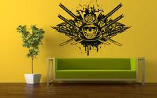 Wall Vinyl Sticker Decals Mural Room Design Scull Warrior Skeleton Zombie bo630