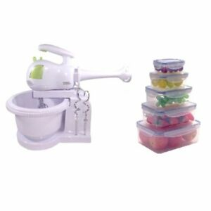 Keimavlock 10-Pc Airtight Food Storage with SHG-903 3 in 1 Stand Mixer Blender