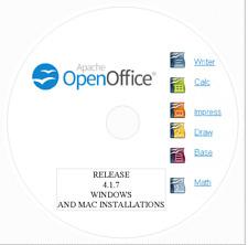 Open Office 4.1.7 2020 for Windows/Mac/Linux - DVD