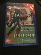 Birmingham City V Middlesbrough 1995 League Cup Soccer/football Programme