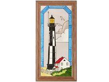 10x12 LIGHTHOUSE Stained Art Glass Framed Wall Suncatcher