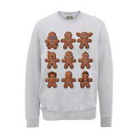 Star Wars Official Gingerbread Men Christmas Jumper // Grey Funny Xmas Sweater