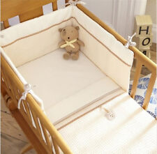 Brand new in pack Izziwotnot cream gift two piece crib set coverlet and bumper