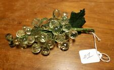 Vintage Green Transparent Perspex Plastic Small Grape Cluster - Wire Stem - #1