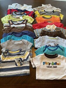 Boys size 6-9 Months Bundle Lot (19) Pieces Clothes BOY Shirts SPRING/SUMMER