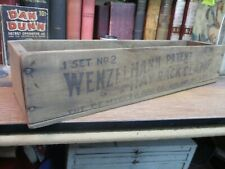 Antique Wenzelmann Hay Rack Clamp Wooden Box wood Myers & Bro. primitive antique