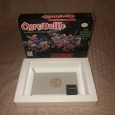 OGRE BATTLE March Of Black Queen AUTHENTIC BOX ONLY w/ Protector SNES Nintendo