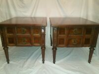 Vintage Pair AMERICAN OF MARTINSVILLE End Tables French Italian Spanish Regency