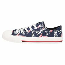 New England Patriots NFL Womens Low Top Repeat Print Canvas Shoes