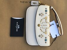 NWT Chalk Coach 66621 Clutch in Glovetanned Leather with Rivets, MSRP $275 (1941