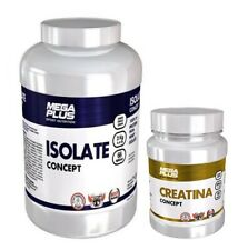 isolate concept 2kg megaplus  proteina isolate + Creatina monohidrato 500 GR