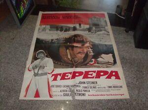 TEPEPA manifesto 2F originale 1969 TOMAS MILIAN ORSON WELLES