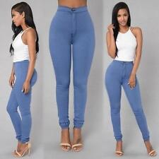 Damen Jeans Hose High Waist Jeanshose Leggings Treggings Jeggings Stretch Slim F