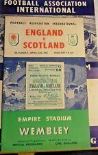 More details for england v scotland programme + ticket + s/sheet 2/4/55 d. edwards debut wembley.