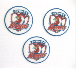 12 Pre Cut SYDNEY CITY ROOSTERS rice wafer card cupcake toppers