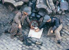 "Verlinden 1/35 ""Map Check"" German Soldiers examining Map WWII (2 Figures) 1974"