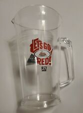 """""""Lets Go Red"""" Coors Light Beer Plastic Pitcher Wisconsin Badgers"""