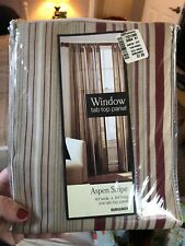 Aspen Stripe Burgundy Window Treatment