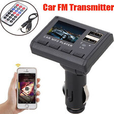 FM Transmitter Car MP3 Player Modulator Dual USB Charging SD MMC Remote Control