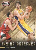 2012-13 Panini Threads Inside Presence #5 Pau Gasol Los Angeles Lakers