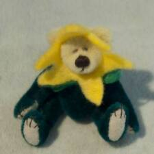 NWT OOAK Miniature Artist Teddy Bear by Anita O'Hara ~ Daffodil