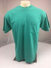 Vintage 90s GAP pocket Tee SS BLANK t-shirt MEDIUM Green boxy Plain Solid