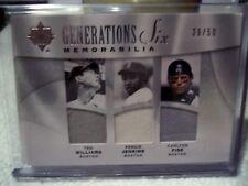 2009 Ultimate Collection - Generations Six Red Sox Memorabilia - See Description